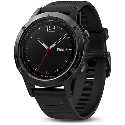 Click to buy Garmin Fenix 5 Sapphire - Black with Black Band - From only $575.99