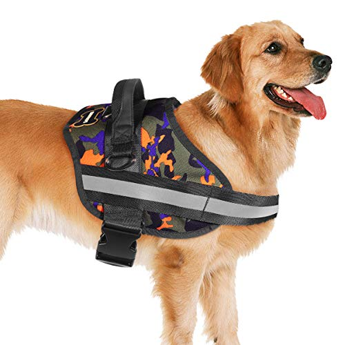 PIXNOR Dog Harness No Pull Adjustable Vest Harness with Reflective Fabric Easy Control for Medium Large Dogs