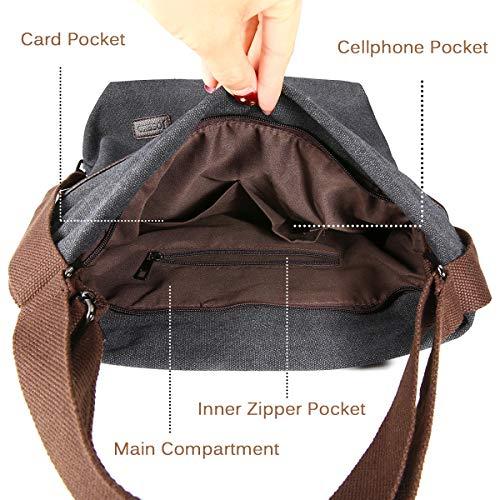 A Daypack Tela Borsa Per In Shopping Blu Spalla Lavoro Viaggio Casual Joseko Nero Donna Borse Multifunzione Grandi Tracolla Zaino X7vq4
