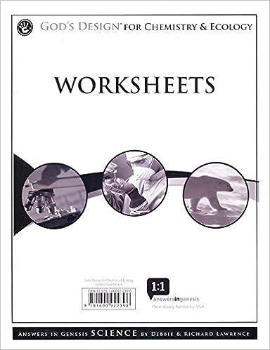 God's Design for Chemistry & Ecology Student Supplement (God's