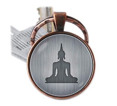 Llavero de Buda meditación espiritual joyería Yoga clave ...