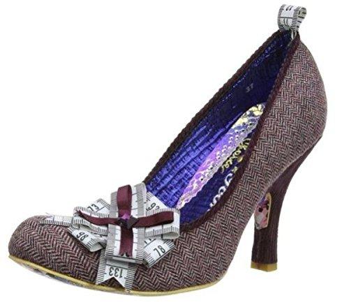 Irregular Choice Tape Tastic Lila Creme Fabric Neu Damen Pumps Heels