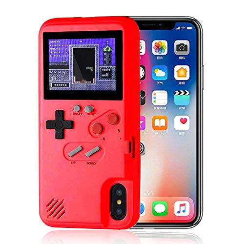 Leegoal Gameboy Case for iPhone, Retro 3D Color Screen Game Console iPhone Case with 36 Classic Small Games, Silicone Cover Case for iPhone Xs/XR/X, iPhone 8/8 Plus, iPhone 7/7 Plus,iPhone ()