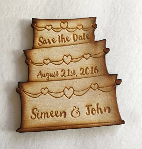 25 Wedding Cake Save the Date Magnets  Wedding