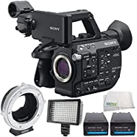 Sony PXW-FS5 XDCAM Super 35 Camera System 6PC Accessory Bundle – Includes Metabones Canon EF/EF-S Lens to Sony E Mount T CINE Smart Adapter + MORE