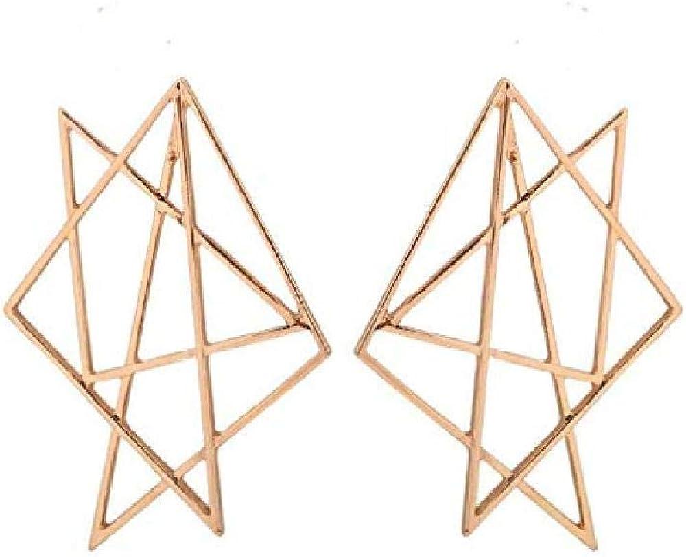 La Sra.Pendientes Geométricos Hechos A Mano Estrellas Moda Femenina SimplesPendientesIrregulares55Mm * 43Mm