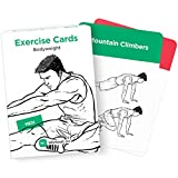EXERCISE CARDS by WorkoutLabs: Visual Bodyweight Workout Cards - #1 Bestselling Premium Waterproof Fitness Flash Cards for at Home Workouts without Equipment (Women & Men)