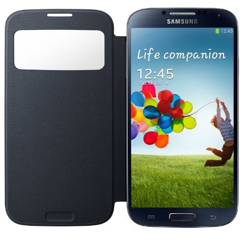Samsung Galaxy S4 S-View Flip Cover Folio Case (Navy Blue) (Samsung Galaxy S4 S View Flip Case)