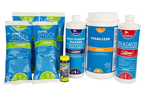 Rx Clear Spring Swimming Pool Start-Up Opening Chemical Kit For Pools Up To 30,000 (Swimming Pool Water Treatment)
