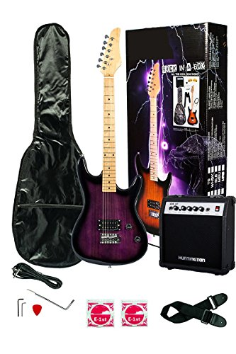 39 Inch PURPLE Electric Guitar and Amp Pack & Carrying Case & Accessories, (Guitar, 10 Watt Amplifier, Whammy Bar, Strap, Cable, Strings, & DirectlyCheap(TM) Translucent Blue Medium Guitar Pick) by Directly Cheap