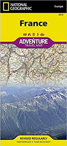 Travel Map Of France.France National Geographic Adventure Map National Geographic Maps