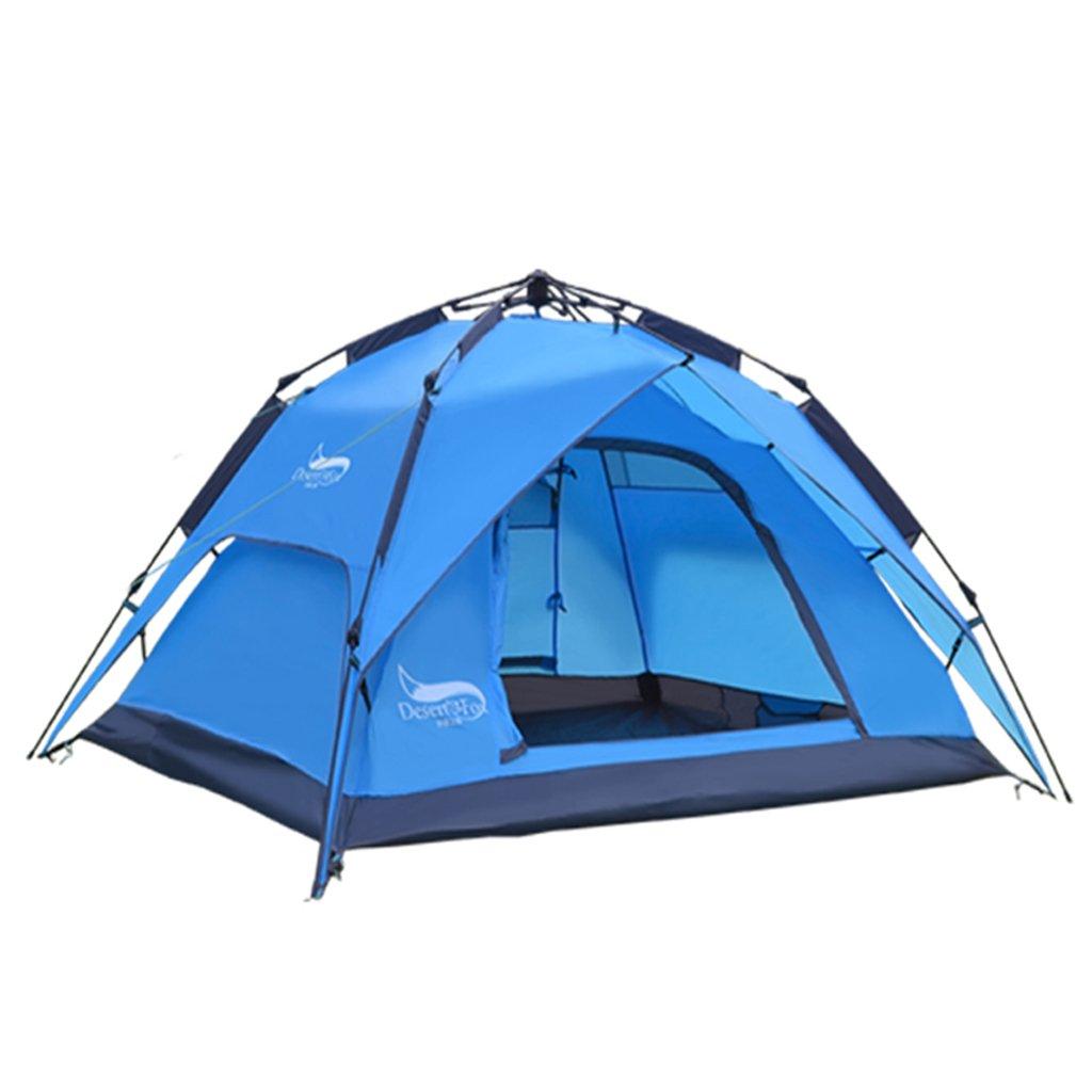 DFHHG@ Zelte, Outdoor Zelte Automatische Regenschutz Camping Familie Doppelzelt 200  130cm