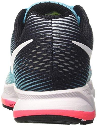 Nike Wmns Air Zoom Pegasus 33, Zapatos para Correr para Mujer Turquesa (Glacier Blue/white/polarized Blue/black)