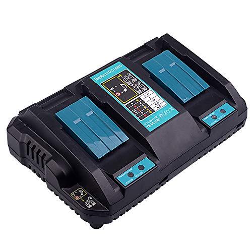 Nuevo Reemplazo 2-en-1 DC18RD Doble puerto de iones de litio 14.4-18V 4.0A Power Tools Cargador rápido para batería Puerto...