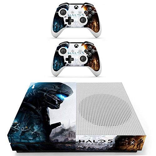 GADGETS WRAP Xbox ONE S Console Controller Halo 5 Theme