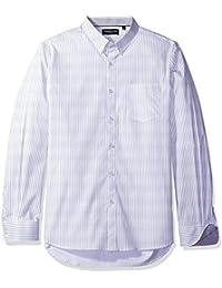 Kenneth Cole New York Men's Long Sleeve Diamond Print Shirt
