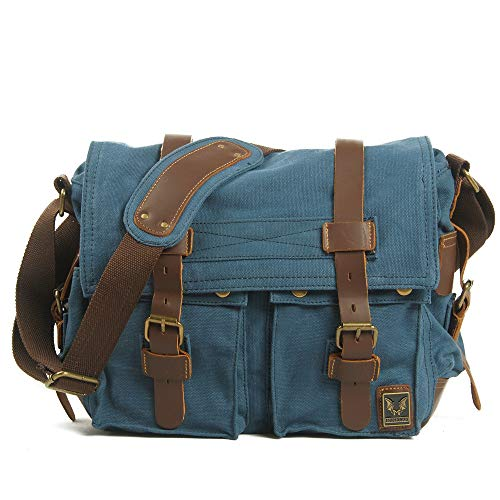 Blue 717 Shoulder Bn School For Use Work Canvas Messenger Bonane Daily Vintage Bag Baaq7f