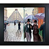 "overstockArt ""A Paris Street, Rainy Day"" Framed Artwork by Gustave Caillebotte"
