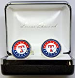 Mens MLB Cufflinks Texas Rangers Cuff Links