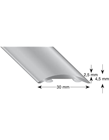 kügele hohlflachprofil aluminio plata anodizado 30/1000 mm, 1 pieza, 503 30 S