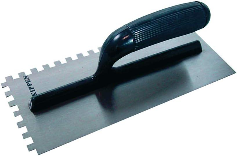 Paleta dentada de acero tipo USA 280 x 120 mm con mango de ABS KIPPEN 3043 3043