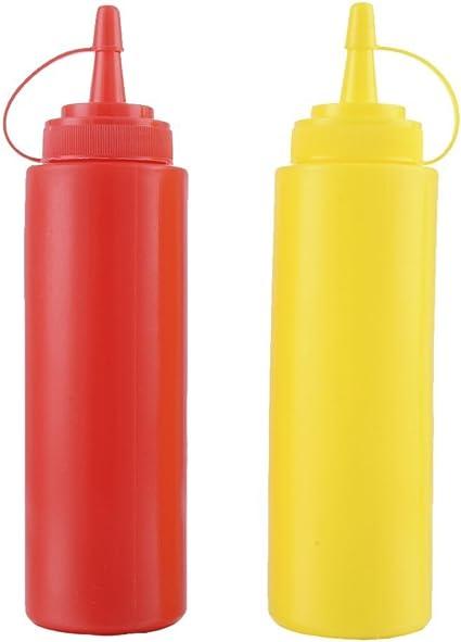 Hemoton 8 Pz Bottiglie di Spremitura Condimento di Plastica con Coperchio Salsa di Insalata Bottiglie di Olio Doliva Bottiglie Ketchup E Senape Contenitore di Spremitura per Cucina Domestica 200 Ml