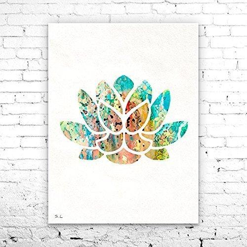 Amazon.com: Lotus 3 Watercolor Print, Yoga Art Print, Lotus ...