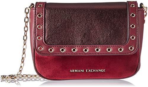 A|X Armani Exchange Small Grommets Crossbody Bag, wine tasting ()
