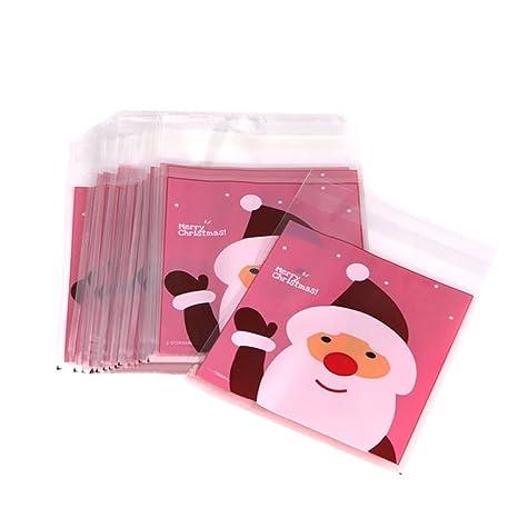 50pcs navidad bolsas de almacenamiento de alimentos bolsa ...