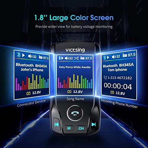 VicTsing [USB C PD&QC3.0] FM Transmitter for Car, 1.8\
