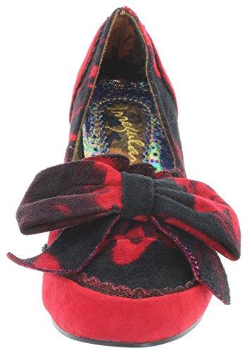 Irregular Choice - Zapatos de vestir de Lona para mujer Rojo