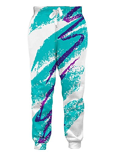 Goodstoworld Unisex 80s Jazz Solo Cup 3D Printed Hip Hop Elastic Waist Side Pocket Gym Jogger Sweatpants Tracksuit Jogger Pants ()