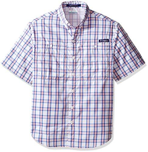 Columbia Sportswear Mens Super Tamiami Short Sleeve Shirt, Sorbet Multi Check, Medium