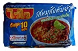 Wai Wai Minced Pork Tom yam Flavour Instant Noodles Net Weight 60g. x 10 Packs