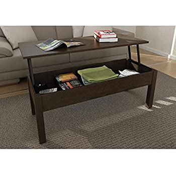 Full Extending And Storage Inside Lift Top Coffee Table Espresso