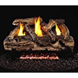 Peterson Real Fyre 24-inch Split Oak Log Set With Vent-free Natural Gas Ansi Certified G9 Burner - Manual Safety Pilot