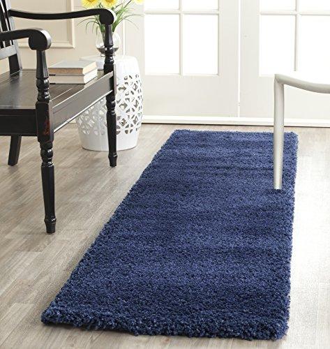Safavieh Milan Shag Collection SG180-7070 Navy Area Rug (2' x 4') (Area Carpet Shag Rug)