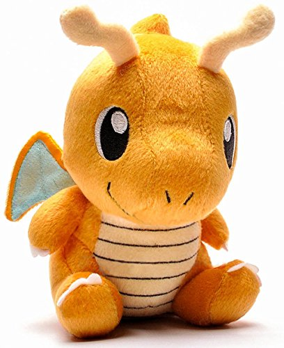Pokemon Stuffed Dragonite Figure Toy | Plush Animal Toys Gift Set for Babies and Newborns (Evee Pokemon Plush Toys)
