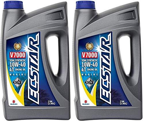 Suzuki ECSTAR V7000 10W-40 Marine 4-Stroke Engine Oil, 2 Gal -