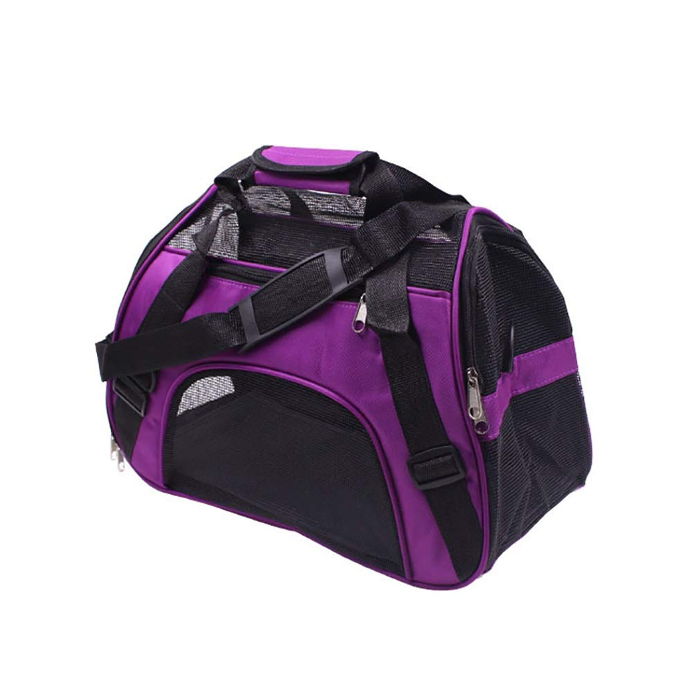 Purple Small Purple Small Pet Carrier for Small Dogs Cats Rabbits Cat Travel Carrier Bag Pet Tote Pet Carrier Rucksack Carrier Bag Pet Travel Bag (color   Purple, Size   S)