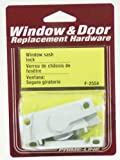 Prime-Line Products F 2554 Window Sash Lock with Cam Action and Alignment Lugs, White Diecast