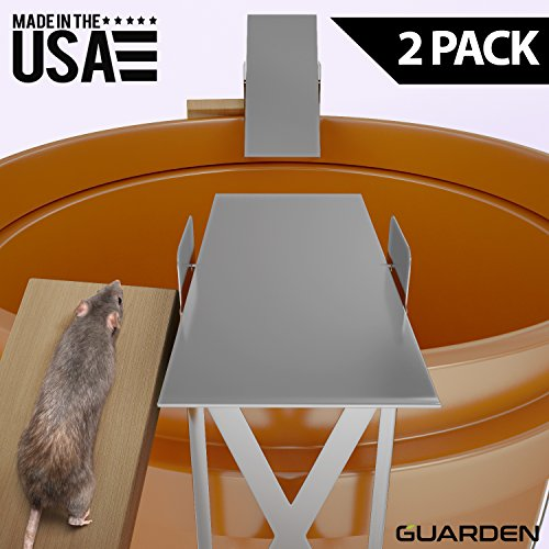 Metal Water Pad (Guarden Humane Mouse Traps that Work – Forget Electronic Mouse Traps and Use a Self-Resetting, Effective, No Poison Mousetrap – Quick Pest Control for Voles, Mice, Rodents and Rats)