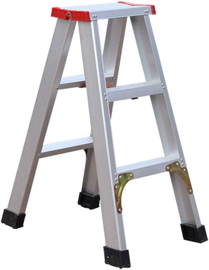 Suministros de construcción Escalera de tres peldaños, Escalera portátil para fotografía al aire libre Escalera de lavado de autos Escalera portátil de metal Tamaño 40 * 55 * 75 CM ahorra espacio:
