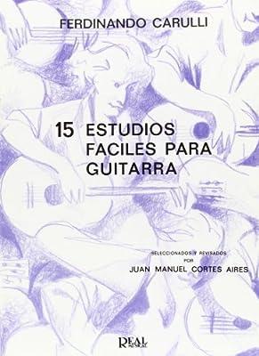 Ferdinando Carulli: 15 Estudios Fáciles para Guitarra: Amazon.es ...
