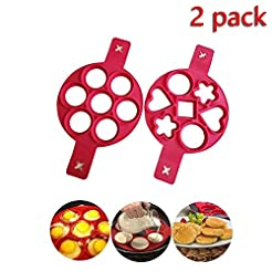 Pancake Mould maker, 2 pack Upgrade 14 C...