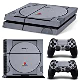 Ps4 Playstation 4 Console Skin Decal Sticker Retro Vintage + 2 Controller Skins Set