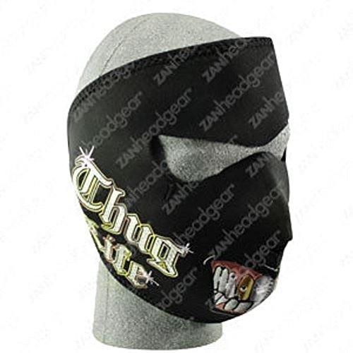 Bad Boy Gangster Thug Life Neoprene Face Mask Biker Costume Reversible (Half Good Half Bad Costumes)