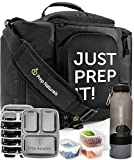 Meal Prep Bag Meal Prep Containers 3 Compartment (10 x 32oz) Meal Prep Lunch Box - Insulated Lunch Bag Backpack Cooler Lunchbox - Lunch Boxes for Adults Best Lunch Bags Cooler Bags Lunch Bag for Men