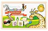 Alphabet Stamps Set- Phonics with Animals by Silverflye- Montessori- Preschool Toys- Safe Non Toxic Washable Ink- For Kids with Learning Disabilities, ADHD and for Teaching Struggling Readers- AGE 3+