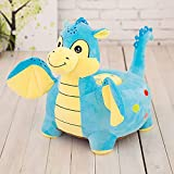 Cartoon Seats Dinosaur Soft Children's Plush toy Bean Bag Chair toy Ideal for Children, Tatami Sofa,Ages 2 and up,15''L x 13''W x 19'' H (Blue dinosaur)